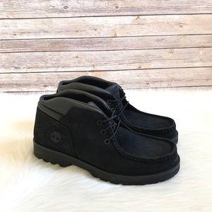 Timberland Black Newtonbrook Moc Toe Chukka Boots
